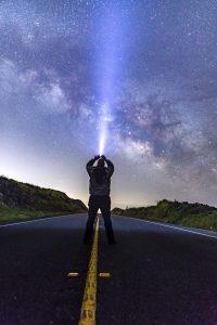 Milky Way over the street