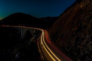 Bixby bridge - light trails