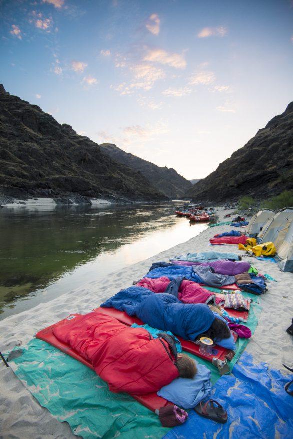 Riverside Camping, Lower Salmon Canyon, Near Lewiston, Idaho. Photo Credit: Idaho Tourism