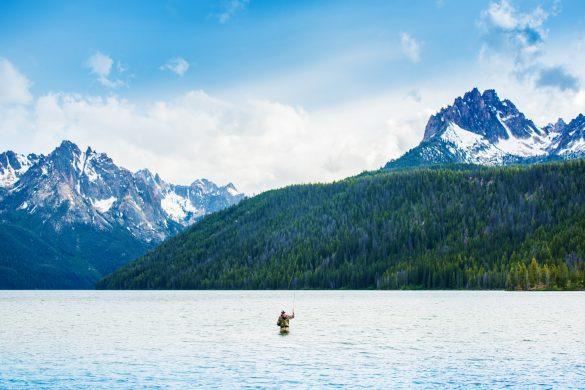 Fly Fishing, Redfish Lake, Stanley, Idaho. Photo Credit: Idaho Tourism