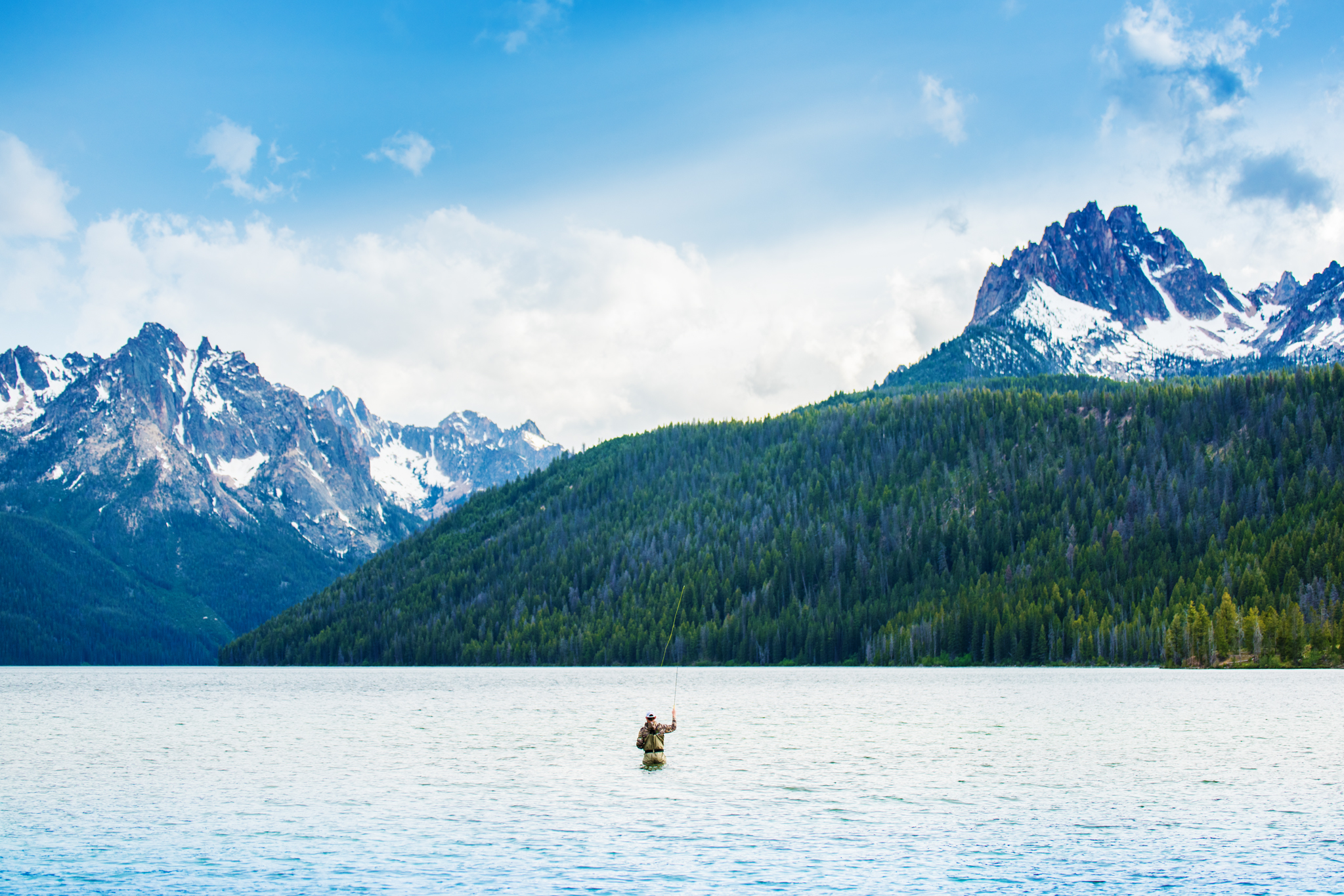 Fly Fishing, Redfish Lake, Stanley, Idaho. Photo Credit: Idaho Tourism